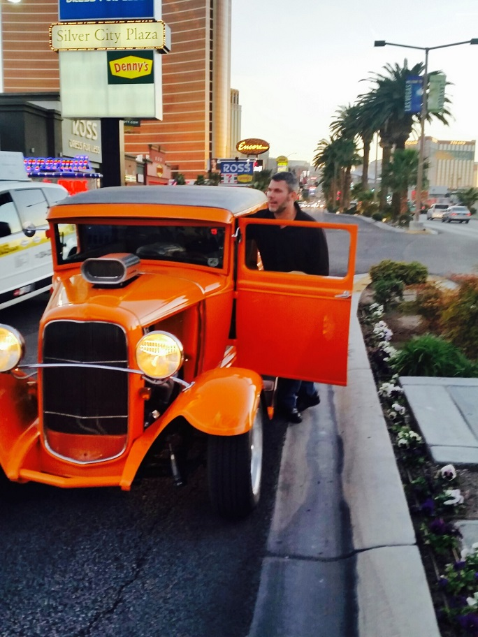 Tony Drost broke down with a dead battery on the Las Vegas Strip