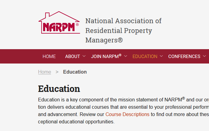 Narpm Education