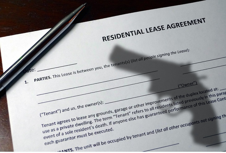 apartment leases and guns