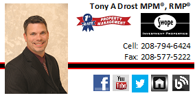 Tony Drost, President, First Rate Property Management, Inc.